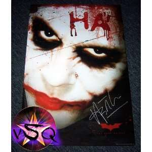 The Dark Knight Signed By Heath Ledger The Joker Advance Autographed