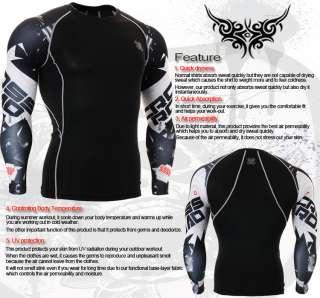 Printing Skin compression tights best base layer spandex black shirt