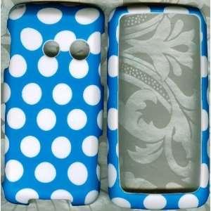 Blue Polka Dot LG Banter Touch UN510 Skin PHONE HARD CASE