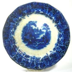 Transferware / Flow Blue Plate Tiger Hunt Pattern Everything Else