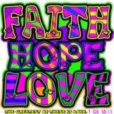 Faith Hope Love Christian Bible Vs NEON T Shirt  S M L XL 2X 3X 4X 5X
