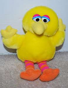 Big Bird Sesame Street Plush Toy Stuffed Animal VINTAGE