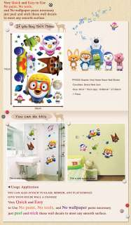 PSS58505 PORORO BIG 5 Kids Room Wall Deco Decal Sticker