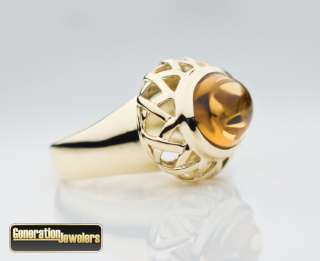 Amazing Tiffany & Co. via Paloma Picasso Citrine 18K Yellow Gold Ring