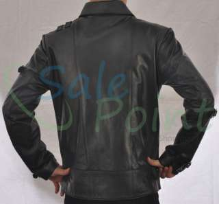 Michael Jackson BAD Black Faux Leather Jacket
