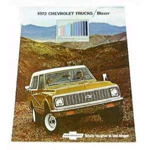 1972 72 Chevrolet Chevy BLAZER BROCHURE 4wd 2wd