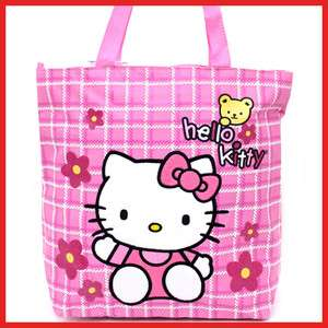 Sanrio Hello Kitty Tote Bag Shoulder Diaper Bag  Pink Flowers