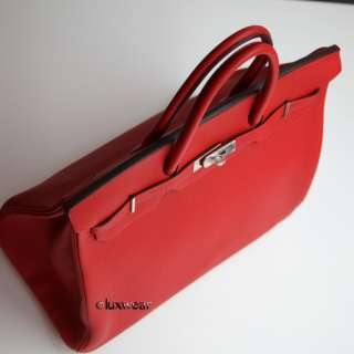 Geranium Red & Palladium 40cm HERMES BIRKIN BAG
