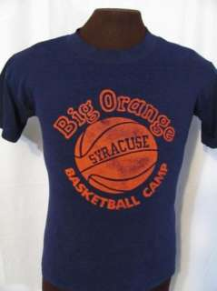 GREY TAG SYRACUSE ORANGEMEN BASKETBALL CAMP 80s retro t shirt M