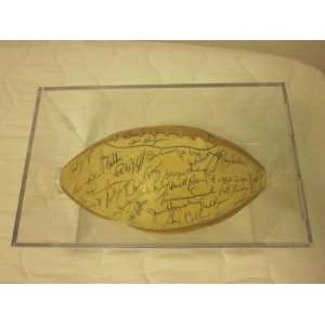 1965 Pro Bowlers NFL Team Signed FB 30 Sigs EX JSA LOA