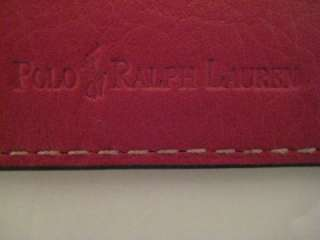 polo ralph lauren red card case new