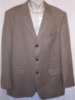 New York BROWN GRAY 100% WOOL 3Btn sport coat suit blazer jacket men