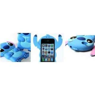 Great Valentine Gift iPhone 4 4s Stitch 3D Flippable Ears Hard Case