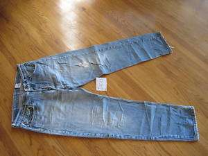 levi blue 501 button fly 36x32 destroyed jean J2013