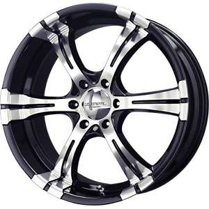 New 22X9.5 6 114.3 Liquid Metal Magma Black Mirror Machined Wheels