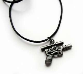 STAR WARS Theme   HAN SOLO Style BLASTER Necklace / Pendant   Metal