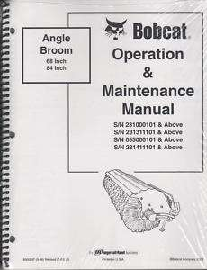 BOBCAT ANGLE BROOM OPERATION & MAINTENANCE MANUAL