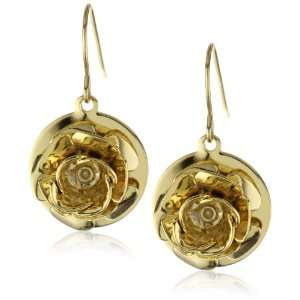 Privileged NYC Gold plated Rose Pendant Earrings 1