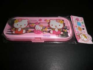 Hello Kitty Stainless Steel Chopsticks Fork Spoon Set