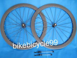 60mm * Full Carbon 3K Road Bike 700C Clincher Wheelset Complete Wheel
