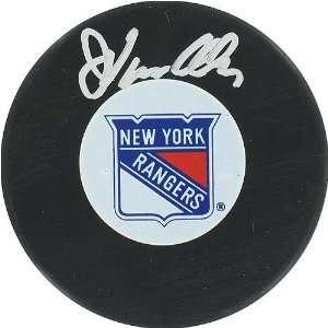 John Vanbiesbrouck New York Rangers Autograph Puck Sports