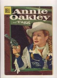 ANNIE OAKLEY & TAGG #7 GOLDEN AGE WESTERN DELL COMIC