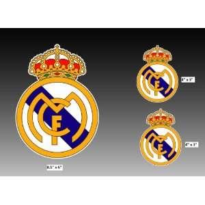 Set of 3   Real Madrid F.C. sticker vinyl decal