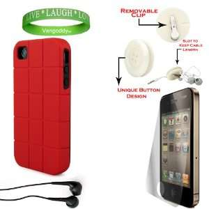Shock Absorbent Red iPhone 4S hard Case with Black