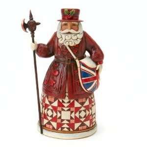Jim Shore BRITISH SANTA Father Christmas Grants Winter