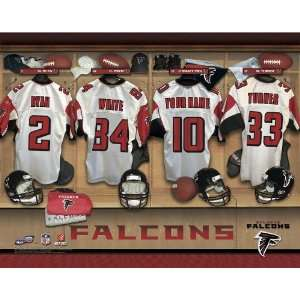 Personalized Atlanta Falcons Locker Room Print Sports