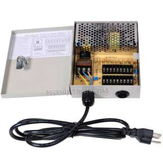 Key Lock CCTV Security Camera Distributed Power Supply Box BPE
