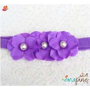 Lavender)) Cute Triple Hydrangea Flowers on Headbands