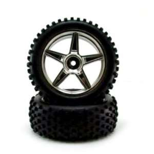 Chrome Front Wheels And Tires 2pcs