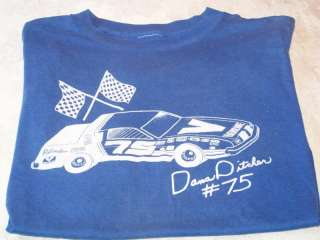 DANA DITCHER #75   Stock Car Racing T Shirt Vintage 80s
