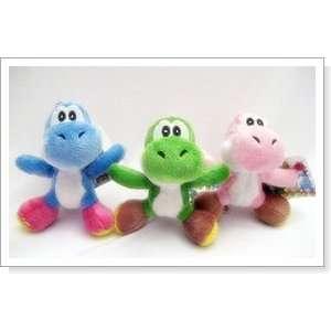Super Mario Brothers  Yoshi Plush Key Chain Set (3pcs