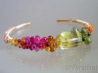 Sunbeams and RainbowsLemon Quartz Ruby Sapphire Encrusted Gold