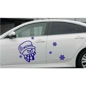 Large  Easy instant decoration car sticker  Happy Snowman