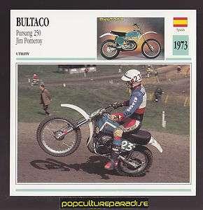 1973 BULTACO PURSANG 250 JIM POMEROY Spain Bike MOTORCYCLE ATLAS PHOTO