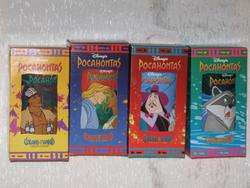 DISNEY Pocahontas Complete 4 Glasses Set Burger King 1994   MIB