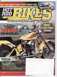 HOT ROD BIKES (5/2005) Harleys V Rod Street Rod
