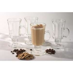 Irish Coffee Glass Mug Set 4 Pieces Kitchen & Dining