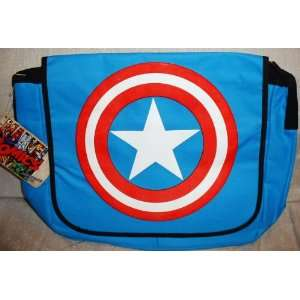 Marvel Comics CAPTAIN AMERICA Logo Shield Messenger BAG