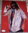 MICK FOLEY Signed OML Baseball MANKIND Dude Love JSA