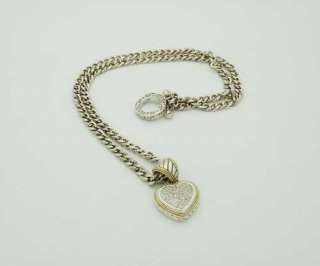 EFFY Balissima 18K Yellow Gold Silver Diamond Pendant Necklace