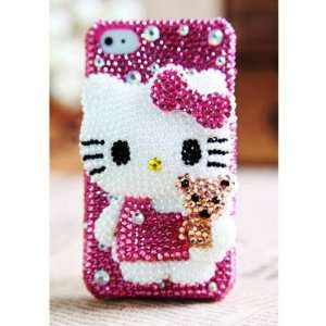 Cute Hello Kitty Bling Luxury Girly Back Case Cover Cell Phones