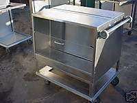 Stainless Steel Mobile Dish Dispenser Cart Double Sided
