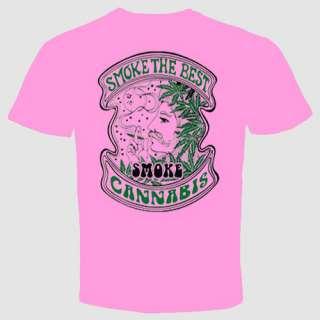 smoke the best cannabis marijuana weed T shirt pot bong