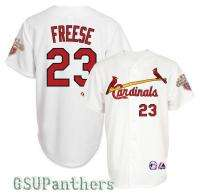 2012 David Freese St Louis Cardinals Home Jersey w/ CHAMPIONS Patch SZ