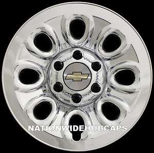 CHEVY 6 Lug 17 Chrome Wheel Skins SET OF 4 FREE SHIP
