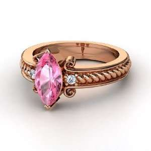Catelyn Ring, Marquise Pink Sapphire 14K Rose Gold Ring